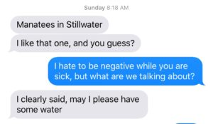 Funny autocorrect in text message stream